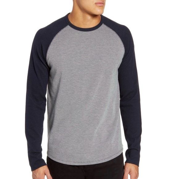 Vince crewneck long sleeve baseball t-shirt Navy